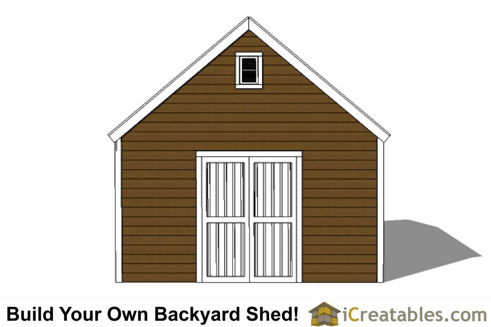 14x24 colonial style garden shed plans left side