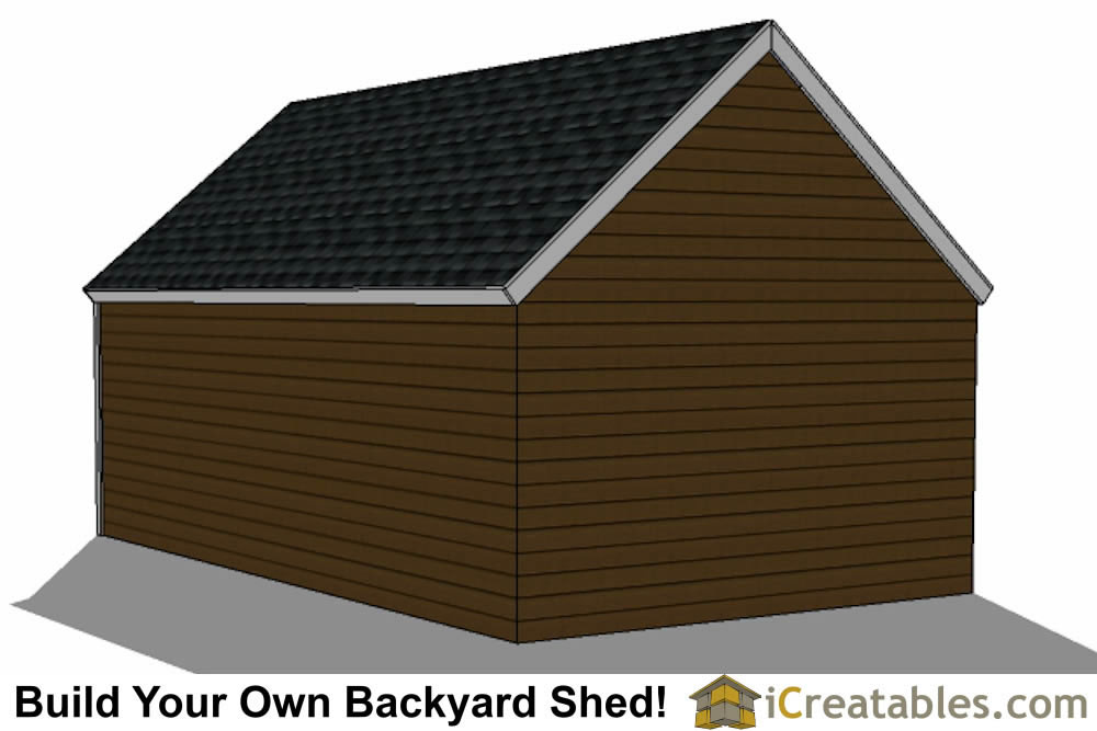 14x24 colonial style shed plans elevation