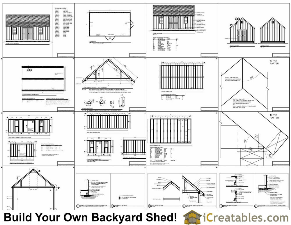14x24 colonial style shed plans build a large shed for Free shed design software with materials list