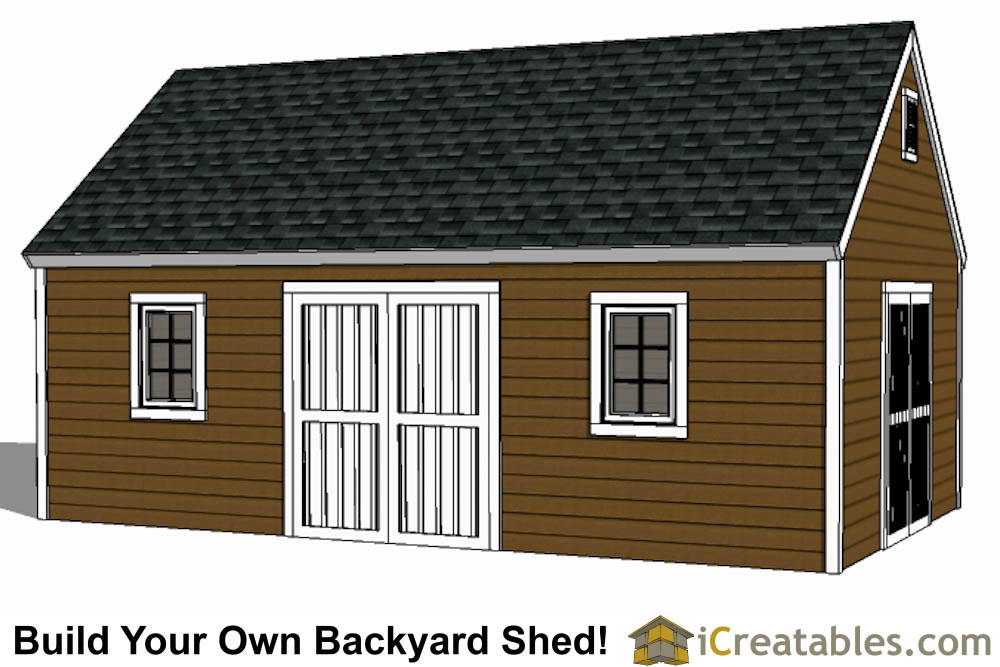 14x24 colonial style shed plans