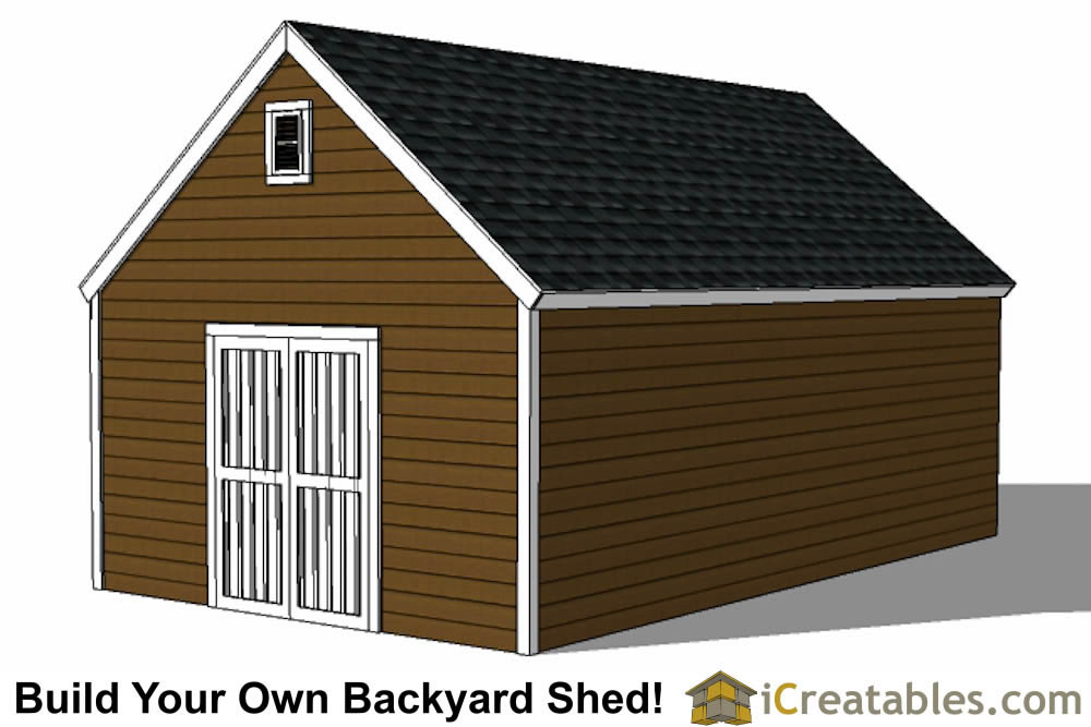 14x24 colonial style shed plans build a large shed for Large shed plans