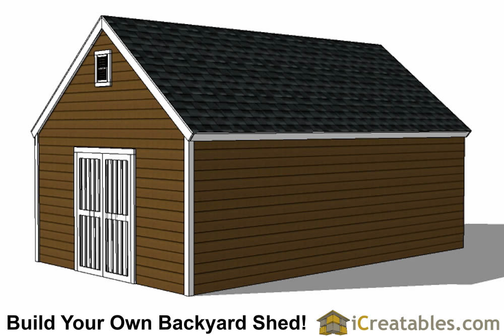 14x24 colonial style shed plans  top view