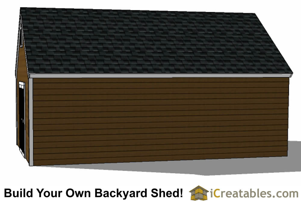 14x24 colonial style shed plans  elevations