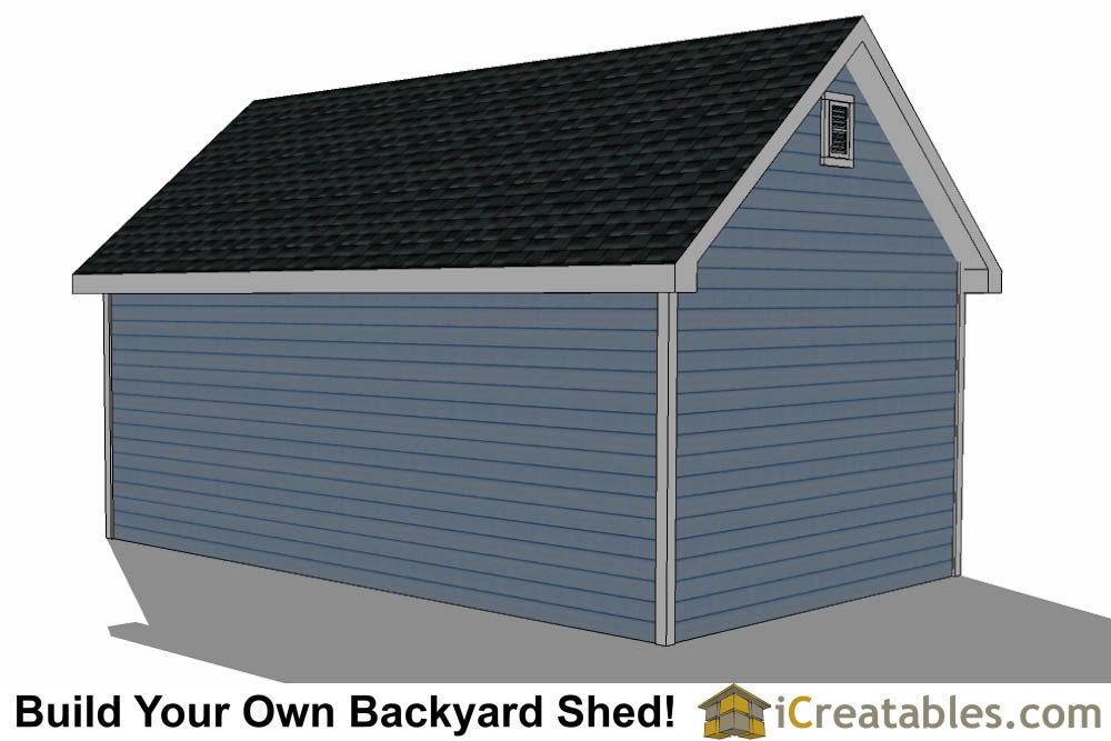 14x24 shed with dormer roof plans right rear