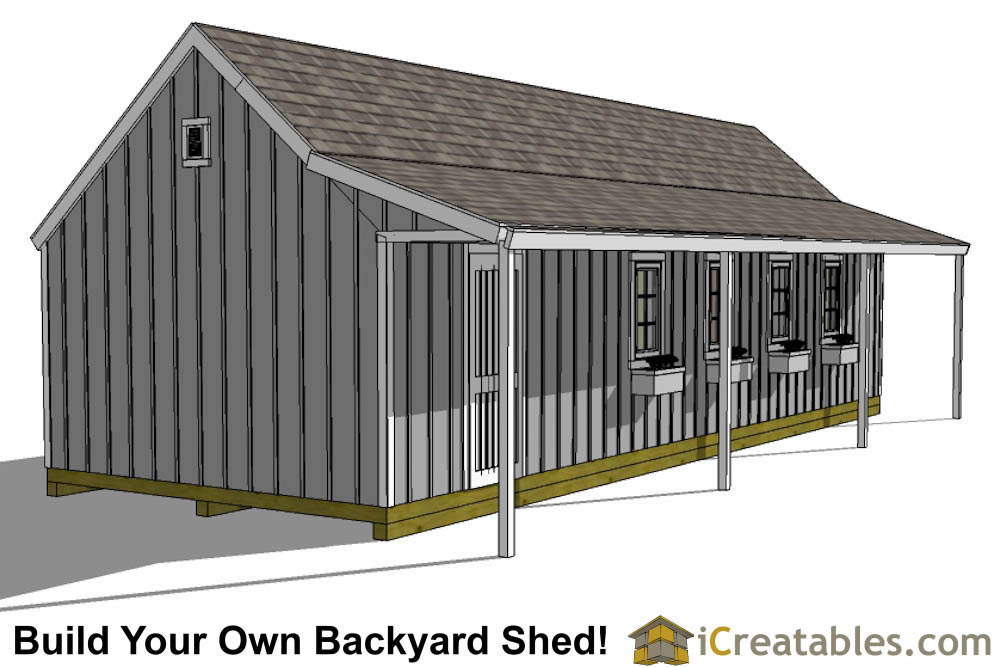 14x40 Cape Cod Shed With Porch Plans Icreatables
