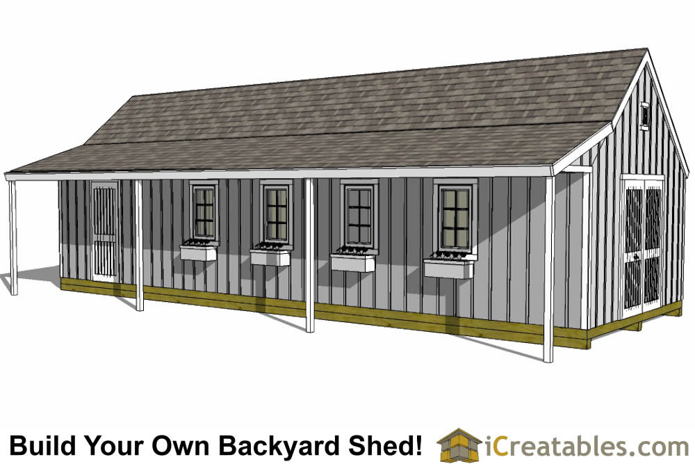 12x16 cape cod shed with porch plans