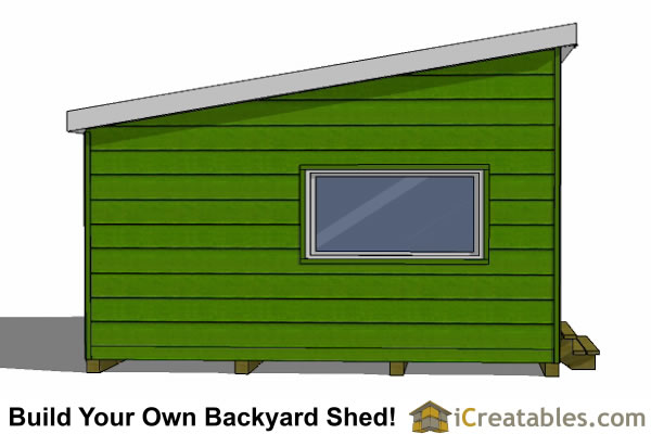 16x16 modern shed end