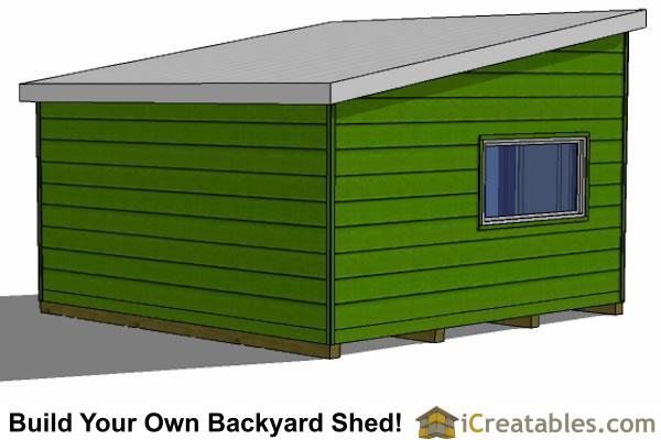 16x16 Studio Shed Plans Large Modern Shed Plans