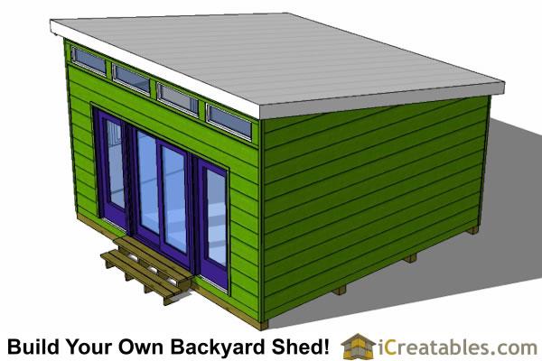 16x16 Studio Shed Plans Large Modern Shed Plans