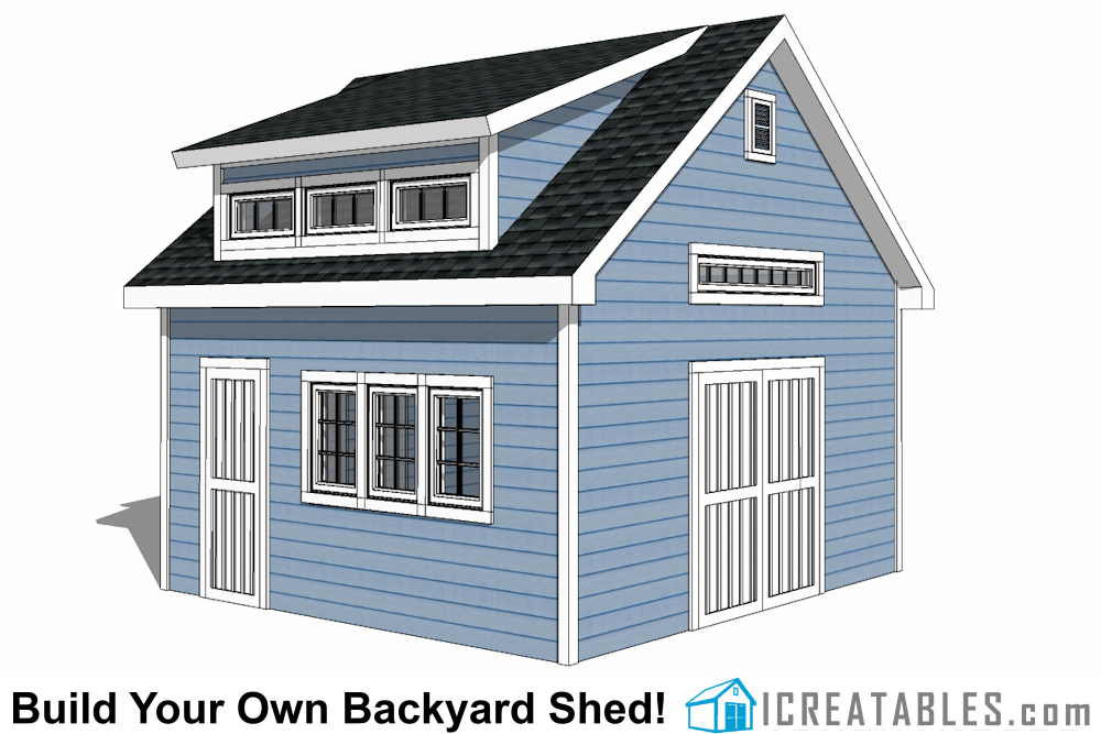 16x16 Shed Plans - DIY Shed Designs For A Large 16x16