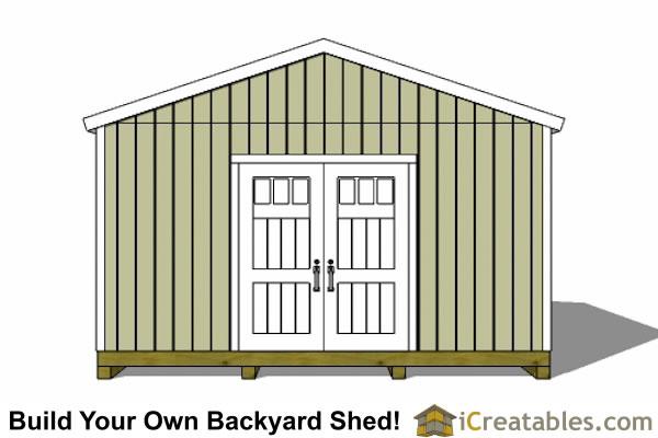 16x20 Gable Shed Plans Large Backyard Shed Plans