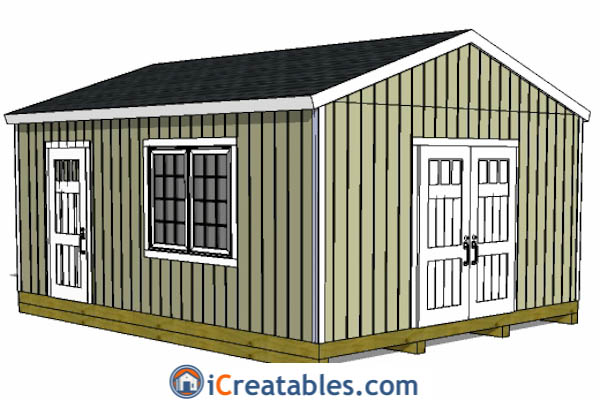 Attrayant 16x20 Gable Shed