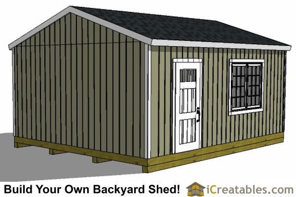 Simple wood shed plans skid steer the shed build for 16x20 garage plans