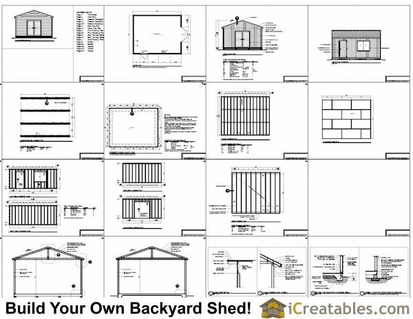 16x20 gable shed plans