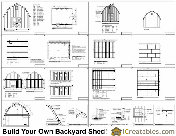 16x20 gambrel shed plans 16x20 barn shed plans for 16x20 garage plans