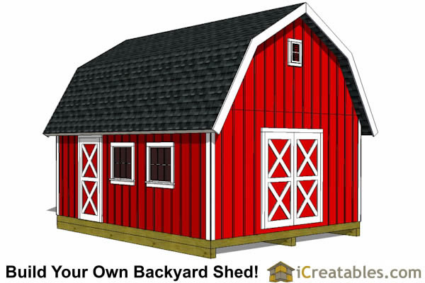 16x20 lean to shed plans front view