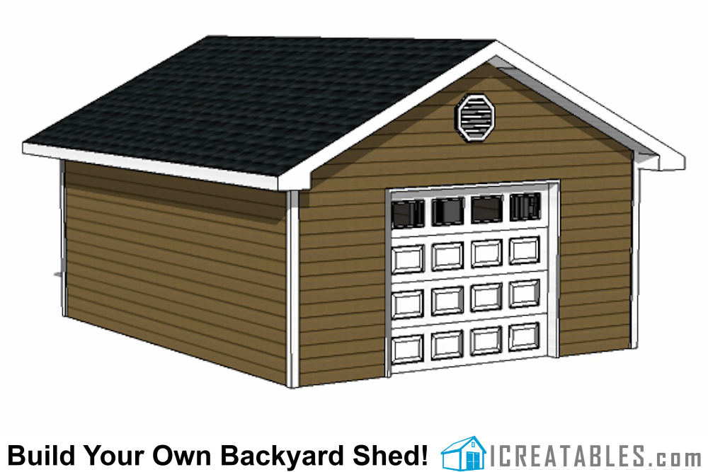 16x20 garage shed plans build a shed with a garage door for Garage plans with storage