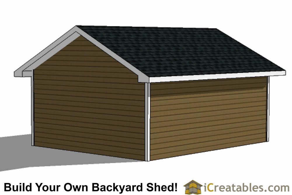 16x20 garage shed plans build a shed with a garage door for Build your garage online