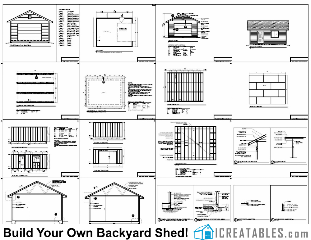 X Garage Shed Plans Build A Shed With A Garage Door - Storage building floor plans