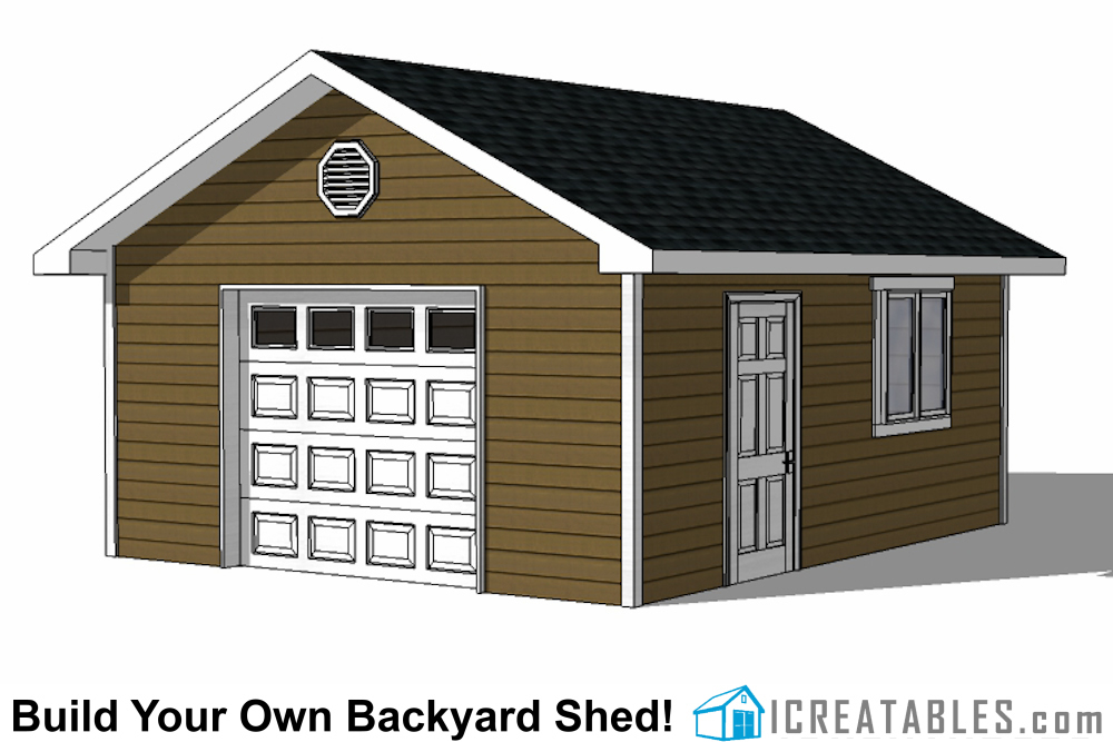 16x20 Garage Shed Plans | Build a Shed With a Garage Door