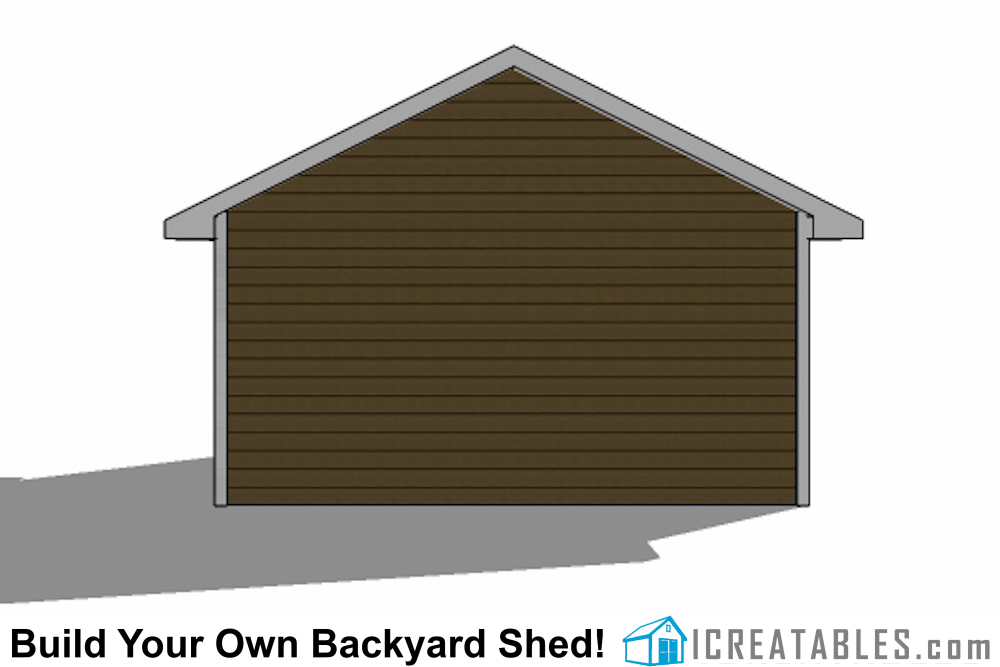 16x20 Garage Shed Plans Build A Shed With A Garage Door