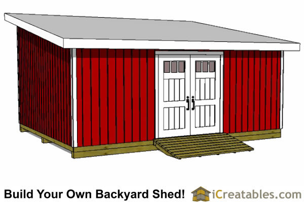 16x20 shed plans gable