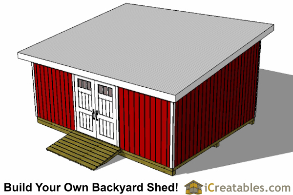16x20 lean to shed top view