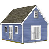 16x20 steep roof garden shed plans