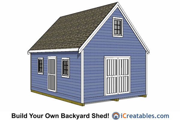 Gor knowing free storage shed plans 16x20 for Free barn plans with loft