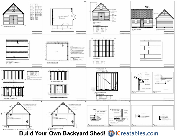 16 20 storage building plans woodworktips for 20 x 40 shed plans