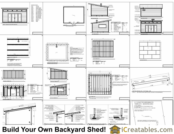 16x20 Modern Studio Shed Shed Plans Perfect Way To Build