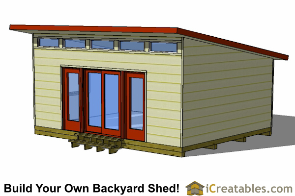 How To Build A Lean To Shed >> 16x20 Modern Studio Shed Shed Plans | Perfect Way To Build A Large Modern Shed