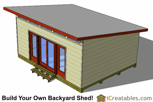16x20 Modern Studio Shed Shed Plans Perfect Way To Build A Large
