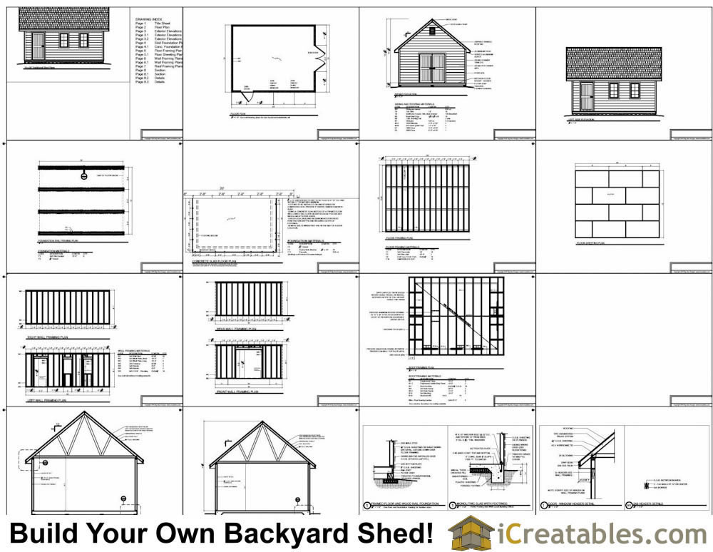 16x20 cape cod style shed plans