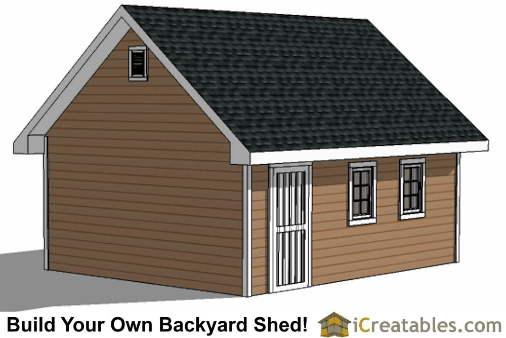 16x20 backyard shed plans top view