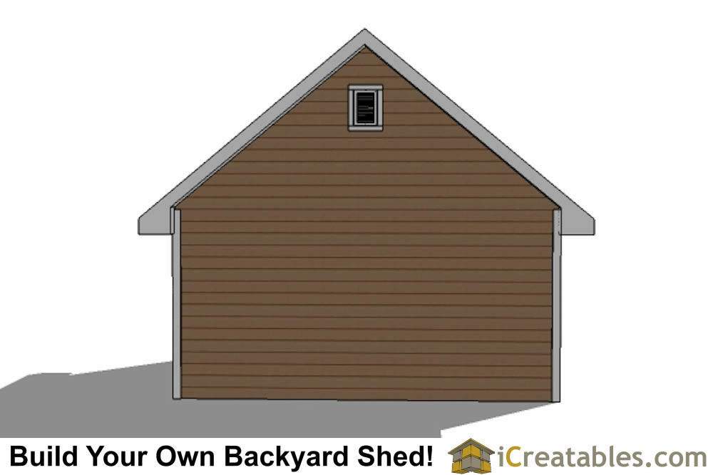 16x20 backyard shed plans right side