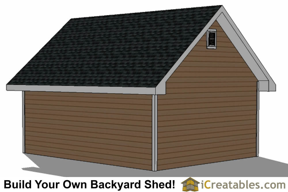 16x20 backyard shed plans left side
