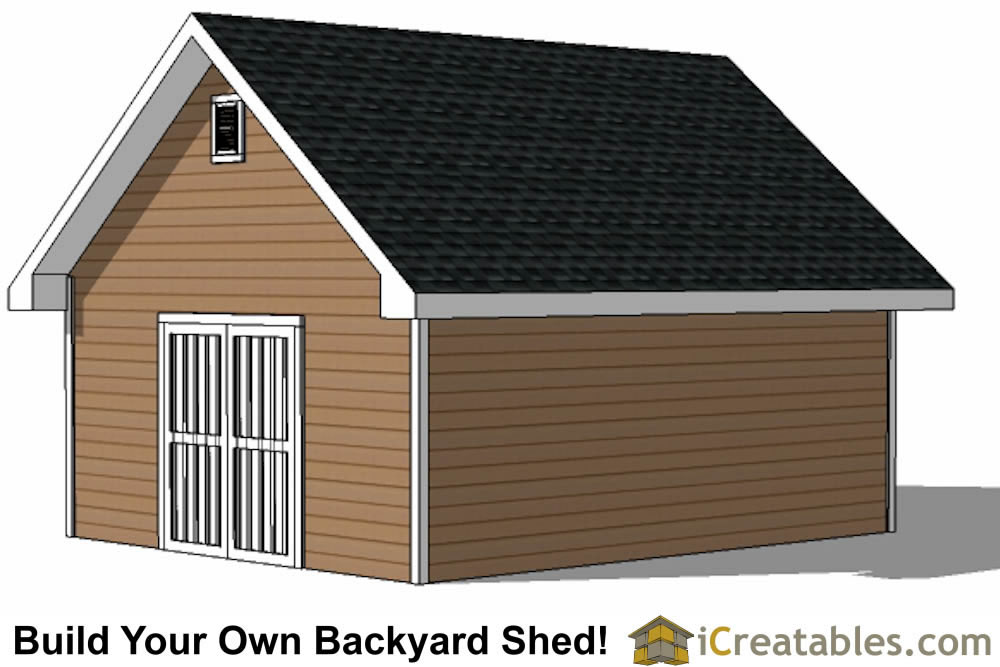 16x20 Traditional Shed Plans Build Your Own Large Shed