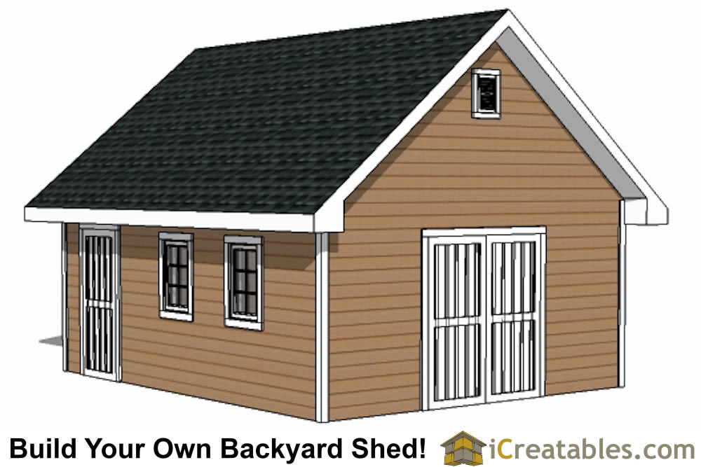 16x20 traditional style shed plans