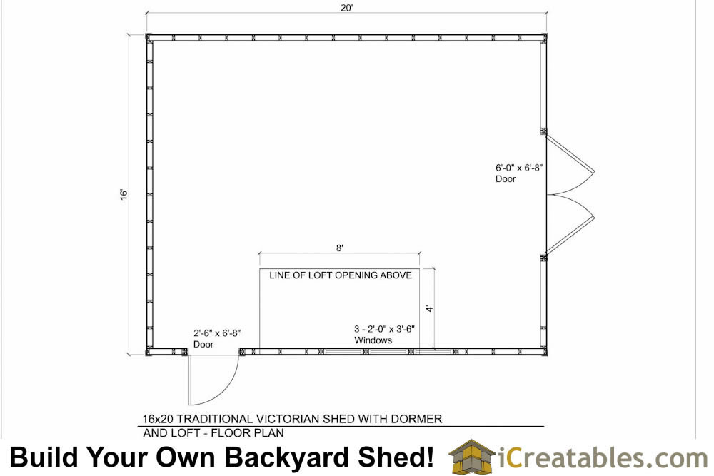 16x20 shed plans with dormer Dormer floor plans