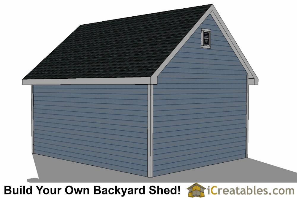 16x24 shed with dormer roof plans right rear