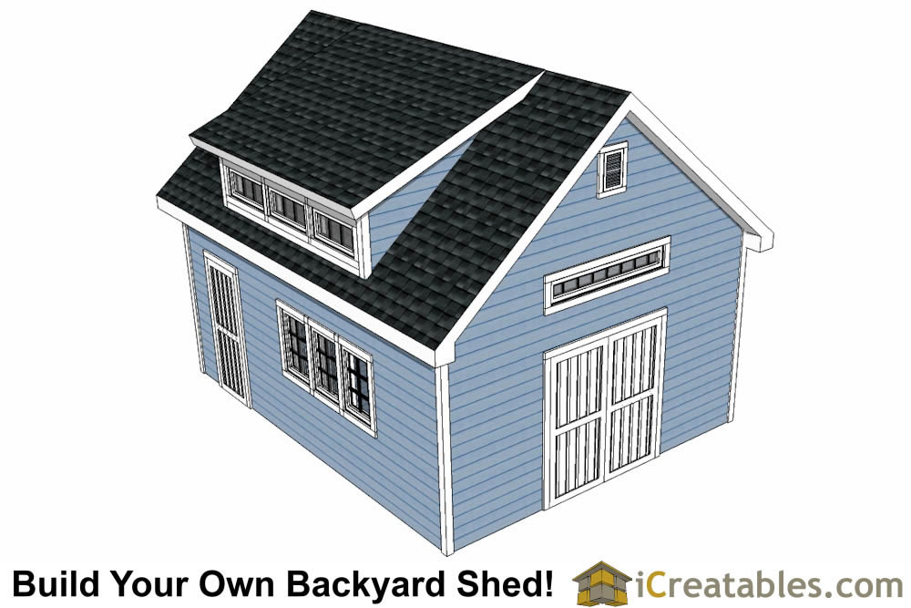 16x20 shed plans with dormer icreatablescom