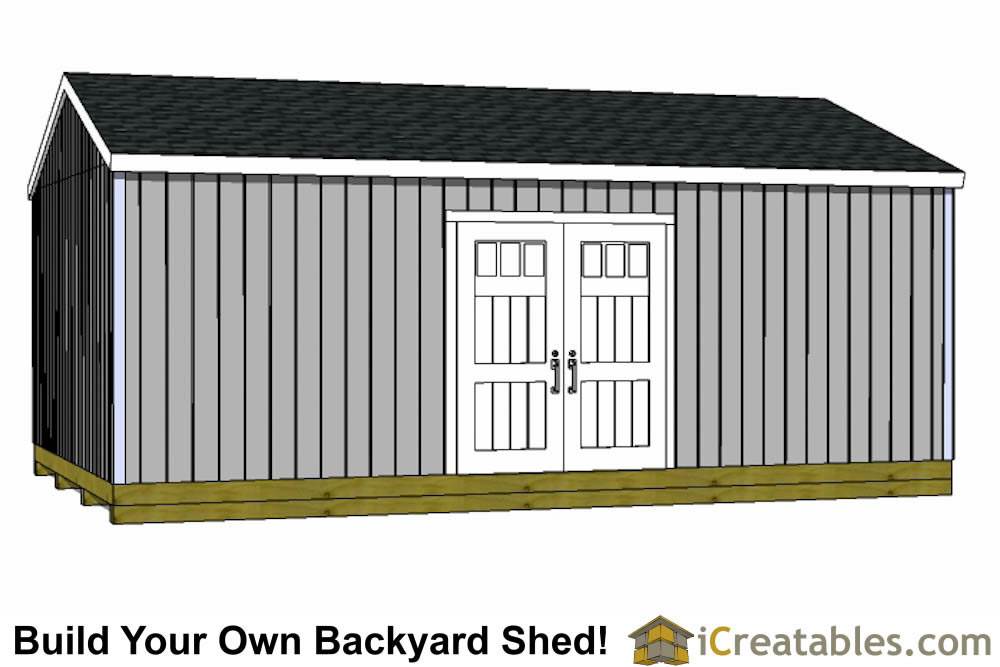16x24 Shed Plans Large Shed Plans