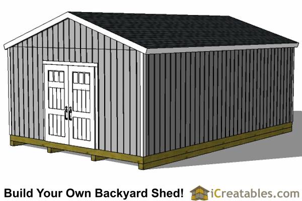 16x24 shed front right