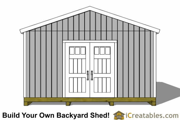 16x24 shed front elevaionl