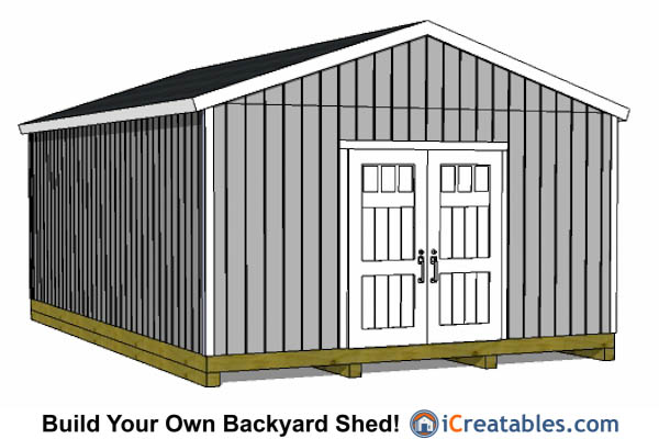 16x24 gable shed