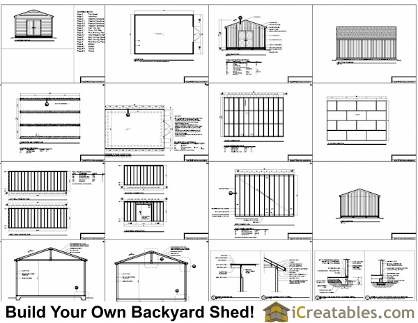 16x24  shed plans example