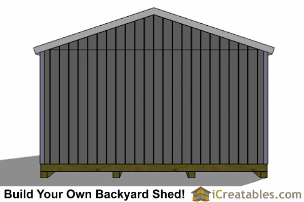 16x24 shed right rear elevation