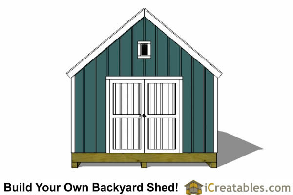 16x24 colonial style shed plans elevation