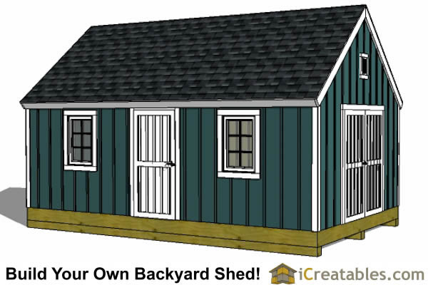 12x24 colonial style shed plans